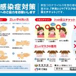 掲示物 - 感染症対策 正しい手の洗い方、3つの咳エチケット_中